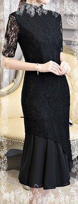 旗袍秋季 新款長款修身改良版时尚日常少女气质淑女学生連身衣裙