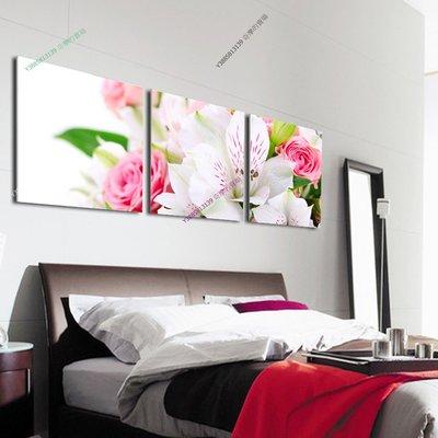 【40*40cm】【厚2.5cm】百合玫瑰-無框畫裝飾畫版畫客廳簡約家居餐廳臥室牆壁【280101_362】(1套價格)