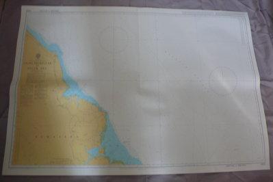 藍色小館46-1-DEPTHS IN METRES航海圖-UJUNG PEUREULAK TO TELUK ARU