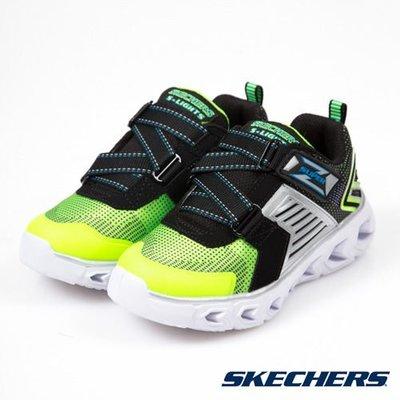 SKECHERS Slight Hypno Flash 2.0 中童 螢光綠 黑 發光鞋 90587LLMBK ☆SP☆
