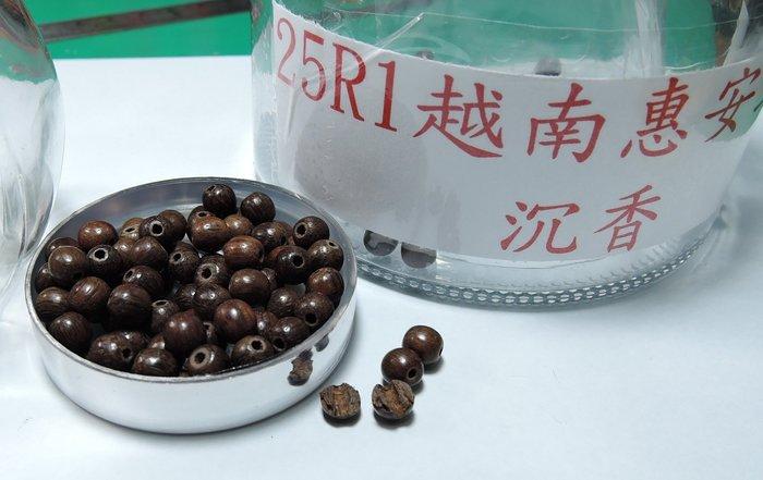 25R1沉香樣品珠.越南惠安土沉沉香.6mm一粒