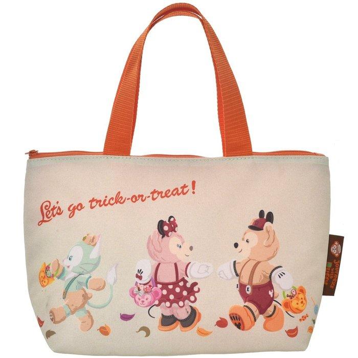 Ariel Wish日本東京迪士尼2015萬聖節裝扮派對限量版Duffy達菲熊雪莉玫防潑水拉鍊保溫便當袋子手提袋-絕版品
