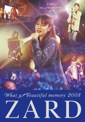 ZARD--What a beautiful memory 2008 [日版LIVE 演唱會 DVD] 全新未拆 坂井泉水