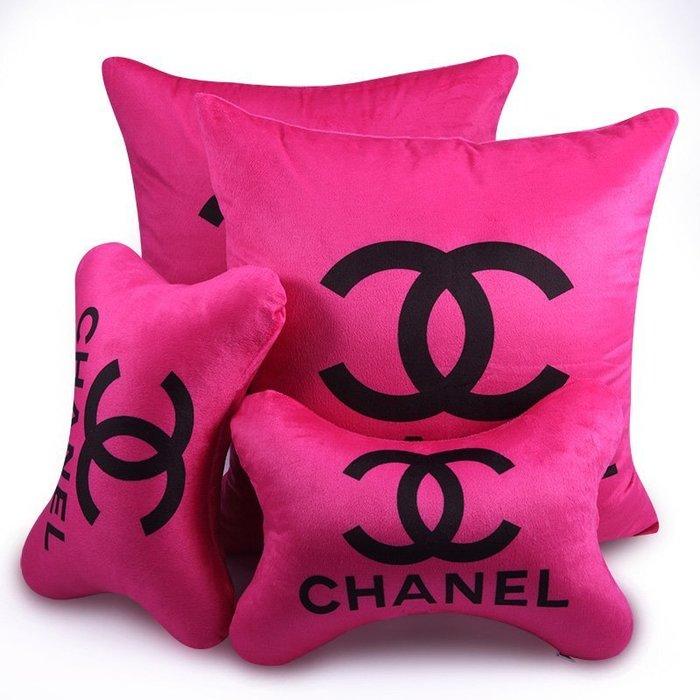 汽車內飾品小香頭枕卡通護頸枕車用頭枕抱靠頸枕