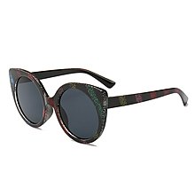 [馳騁]2001現貨7-11全家快速到貨韓國韓版鏡框墨鏡太陽眼鏡鏡框爆金蔥彩虹色斜條紋方形太陽鏡歐美街拍潮流奢華墨鏡92