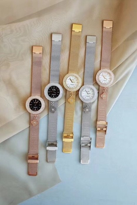 NaNa代購 COACH 手錶 新款網帶手錶 女士手錶 石英手錶 三層水晶環繞 附四葉草吊飾 附禮品盒