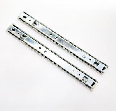 """250mm 10""""  2截 鋼珠滑軌 抽底 可拆 滑軌 抽屜"""
