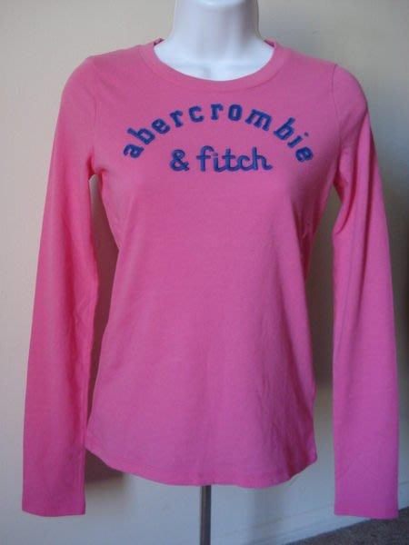【天普小棧】A&F abercrombie&fitch maya tee貼布刺繡長Tee 長袖T恤 KIDS XL號