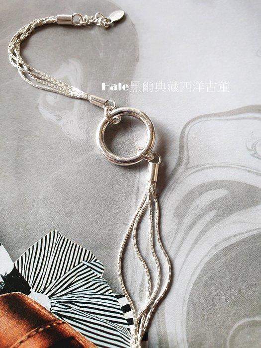 黑爾典藏西洋古董 ~純銀 925銀 銀圈多鍊純銀手鍊/手環~韓國時尚品牌走秀雜誌