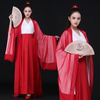 紅顏劫傳統漢服女魏晉風交領齊腰襦裙大袖衫套裝中國風俠客古風-青木居家