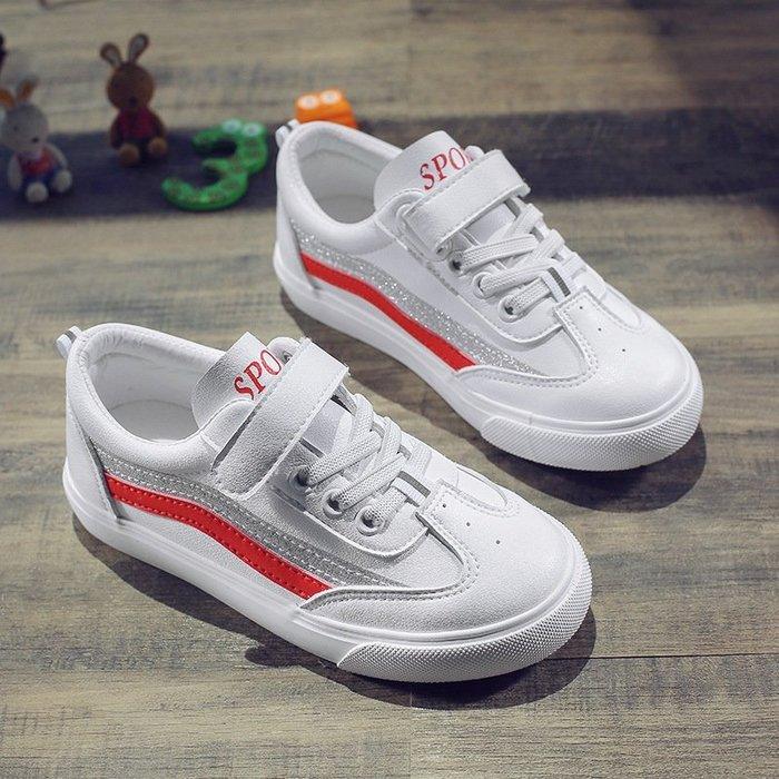 新款秋季童鞋男女兒童鞋板鞋魔術貼舒適休閒兒童鞋2750