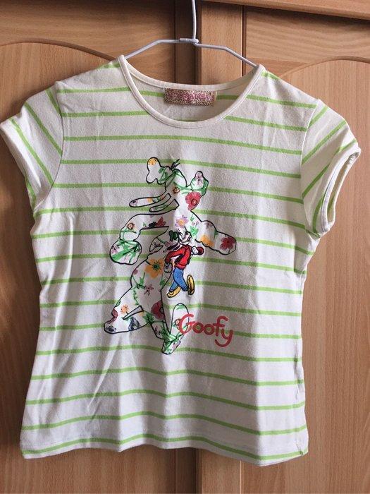 。☆二手☆。義大利品牌Monnalisa蒙娜麗莎女童刺繍高飛狗棉T(150)