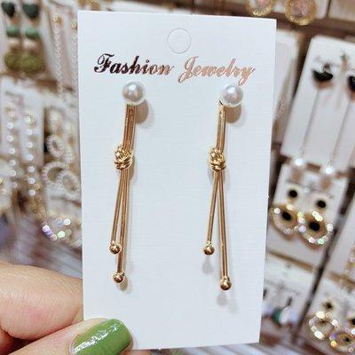 飾品新款 韓版簡約 長棒棒個性 耳環女 氣質一款兩用珍珠耳釘網紅款