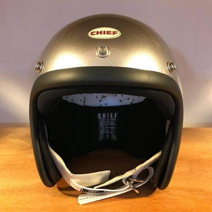 (I LOVE樂多) Chief Helmet TX500 3/4 小帽體安全帽 銀色 喜愛BELL BUCO 可參考