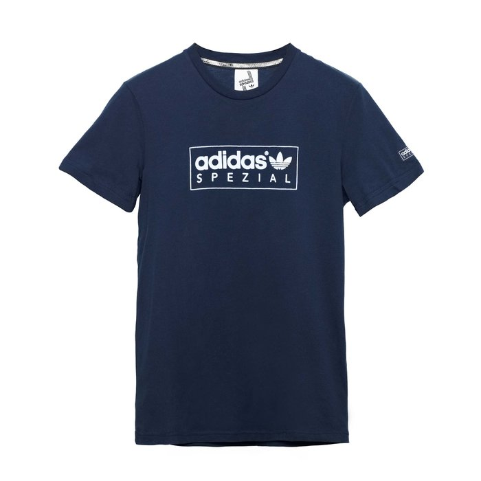 【紐約范特西】現貨 Adidas Box Logo Tee AJ1699 深藍色白字 男短袖T