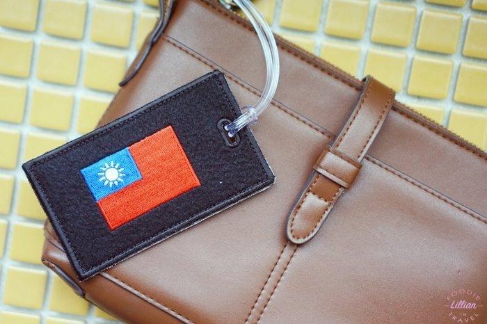 ※臺灣國旗主題※客製雙用吊牌卡套行李牌雙用icardholder(臺灣國旗+1個AB圖案+名字) (1組=2個)
