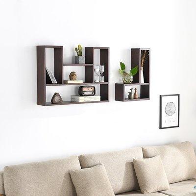 ins熱銷-北歐實木白橡木凹型L型創意置物架書架花架臥室裝飾#置物架#創意#墻壁置物架#裝飾