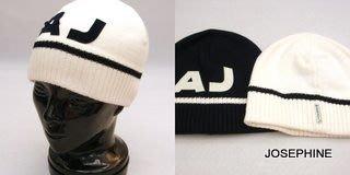 喬瑟芬【ARMANI JEANS】米白色AJ羊毛毛線帽(另有米白色)~特價$3000含運