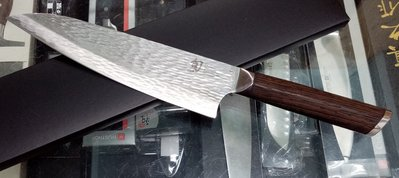 J二手-SG-2粉末鋼 日本旬SHUN ~fuji 161層大馬士革 8.5吋主廚刀