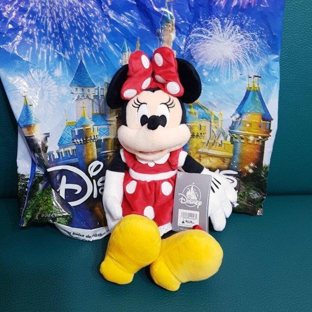 美國迪士尼樂園經典米妮中型娃娃(附迪士尼提袋)