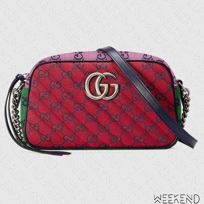 【WEEKEND】 GUCCI GG Marmont Small 小款 山形紋 肩背包 相機包 紅色 多色 447632