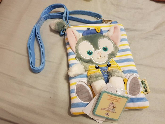 ☆R&M☆上海迪士尼正品代購畫家貓單肩包側背包小包手機包~現貨