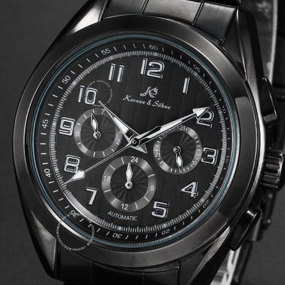 KS Men's Automatic Mechanical Stainless Steel Date Day Sport Wrist Watch Bl 男錶
