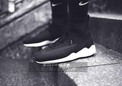 【GS】NIKE ZOOM FLYKNIT MERCURIAL 黑白編織 844626-001 男慢跑鞋 武士 金標
