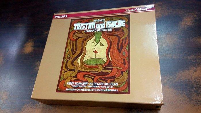 好音悅 Bernstein 伯恩斯坦 Wagner 華格納 崔斯坦與伊索德 巴伐利亞廣播交響4CD Philips 德版