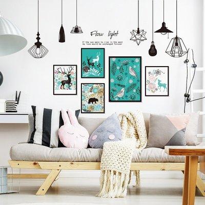 壁貼工廠 超美 超低價 壁貼貼紙墻貼 正韓韓版 3D立體墻貼紙貼畫ins客廳臥室墻面背景裝飾個性創意自粘相框墻畫