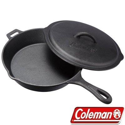 【山野賣客】美國ColemanCM-21880 經典鑄鐵平底鍋10吋荷蘭鍋鑄鐵鍋