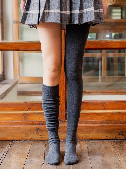 加長過膝襪女士純棉百搭日系長筒學生高筒襪子韓國學院風