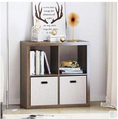 『格倫雅』格子櫃子收納櫃現代簡約儲物櫃創意自由組合格子櫃客廳書櫃置物架(4格)^23504