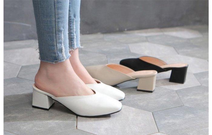 【Kstyle】預購--基本百搭款露後腳跟跟鞋--FEALE--正韓進口