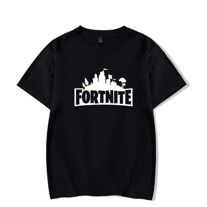 新款t恤亞馬遜歐美電子遊戲堡壘之夜fortnite新款寬鬆男裝短袖T恤 之夜t恤