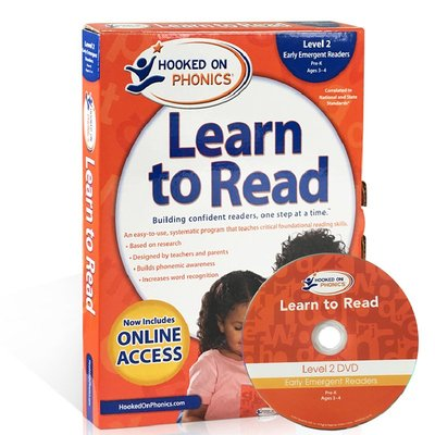 【西文優選】英文原版教材迷上自然拼讀第二級Hooked on Phonics Learn to Read Level2啟