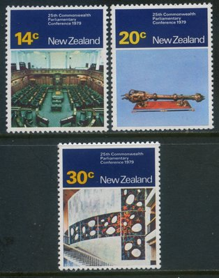 郵紳_47331_紐西蘭_第25屆英聯邦議會會議(威靈頓)_1979年_一套3全_原膠新票_美品如圖_背潔無貼_低價起標