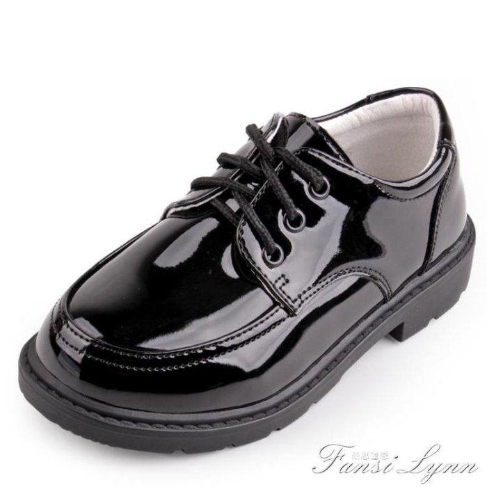 「免運」男童黑色小學生演出鞋春秋男生中大童表演鞋英倫禮服鞋男兒童皮鞋 『菲菲時尚館』