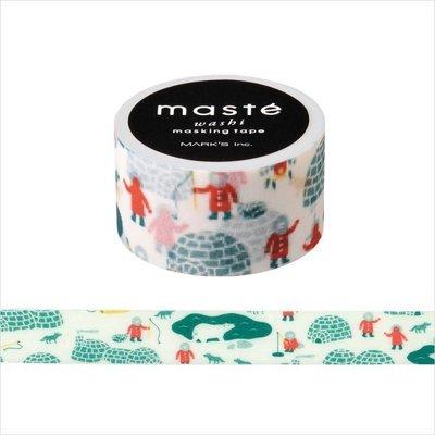 【R的雜貨舖】紙膠帶分裝 MARK'S maste和紙膠帶-マステ 雪屋