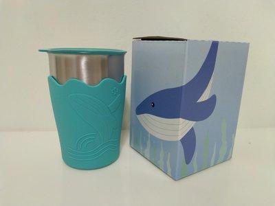 全新,中鋼股東會紀念品~鯨彩都繪不鏽鋼冷水杯