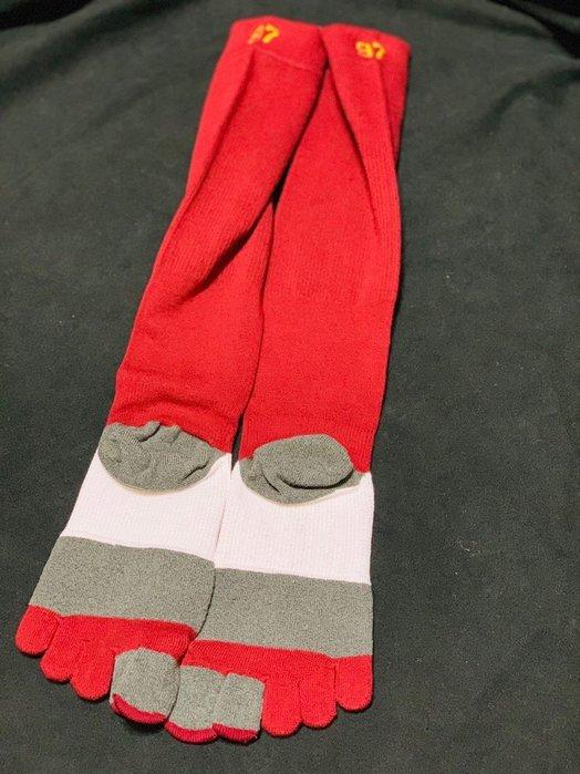 貳拾肆棒球-限定品日本帶回Mizuno 日職棒東北樂天支給式樣五趾襪一雙/日製