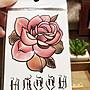 【萌古屋】】紅玫瑰與英文 - 手背防水紋身貼紙刺青貼紙07 K12