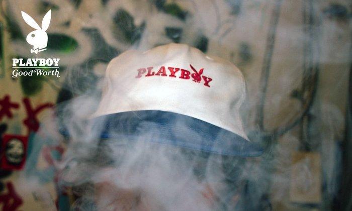 GOODFORIT / 美國飾品專門品牌Good Worth x Playboy金屬調節扣六片式剪裁棒球帽