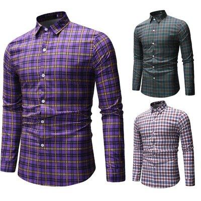 Printed   European big yards men's long sleeve shirt 襯衫