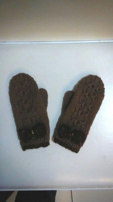手工編織100%純毛線手套