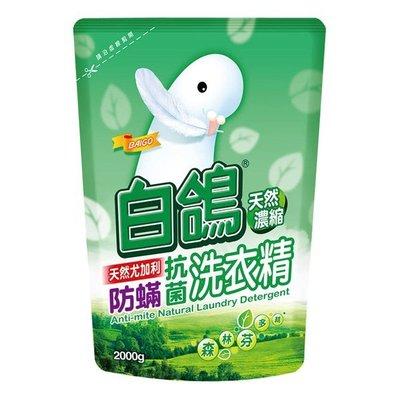 【亮亮生活】ღ 白鴿 抗菌防瞞洗衣精2000ml 補充包 ღ 天然護纖因子 保護衣物纖維