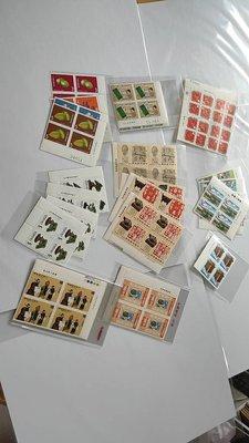 60-70年代台灣全套4方連新票9種計36套,含特168,219,224,148,等全品