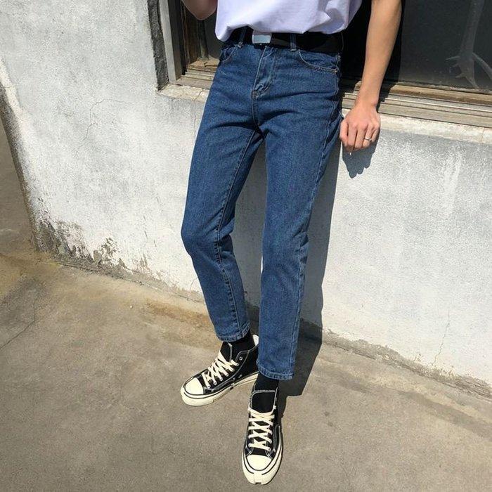 【NoComment】經典牛仔 復古原色 簡單休閒質感好看的原色九分直筒牛仔褲 四色