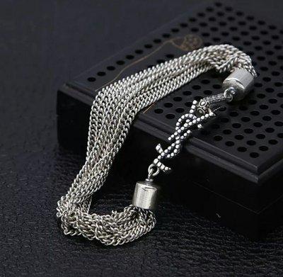 嗨,寶貝銀飾珠寶* 925純銀☆泰國項鍊 時尚飾品 經典潮流 個性 網紅 簡約 流蘇純銀手鍊 情人節禮物
