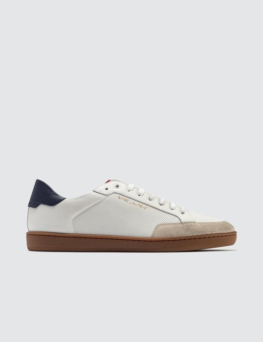 Saint Laurent - Court Classic SL/10 Sneakers In Perforated Leather男穿孔皮革運動鞋 折扣代購中